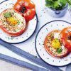 Œuf « cocotte » de tomate au thon et paprika