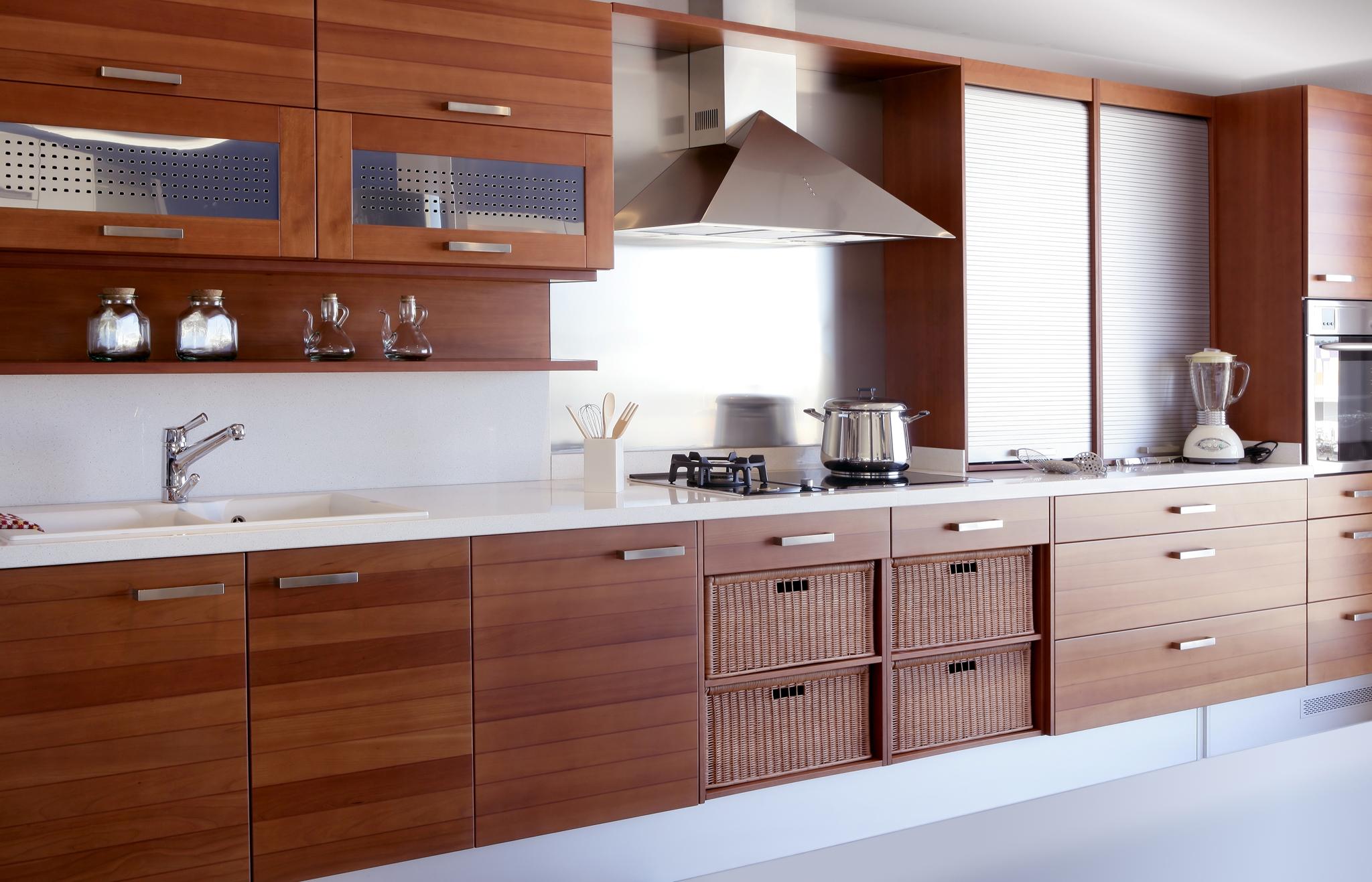 indogate | cuisine chene massif moderne