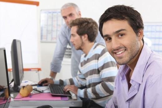 Men in computing training