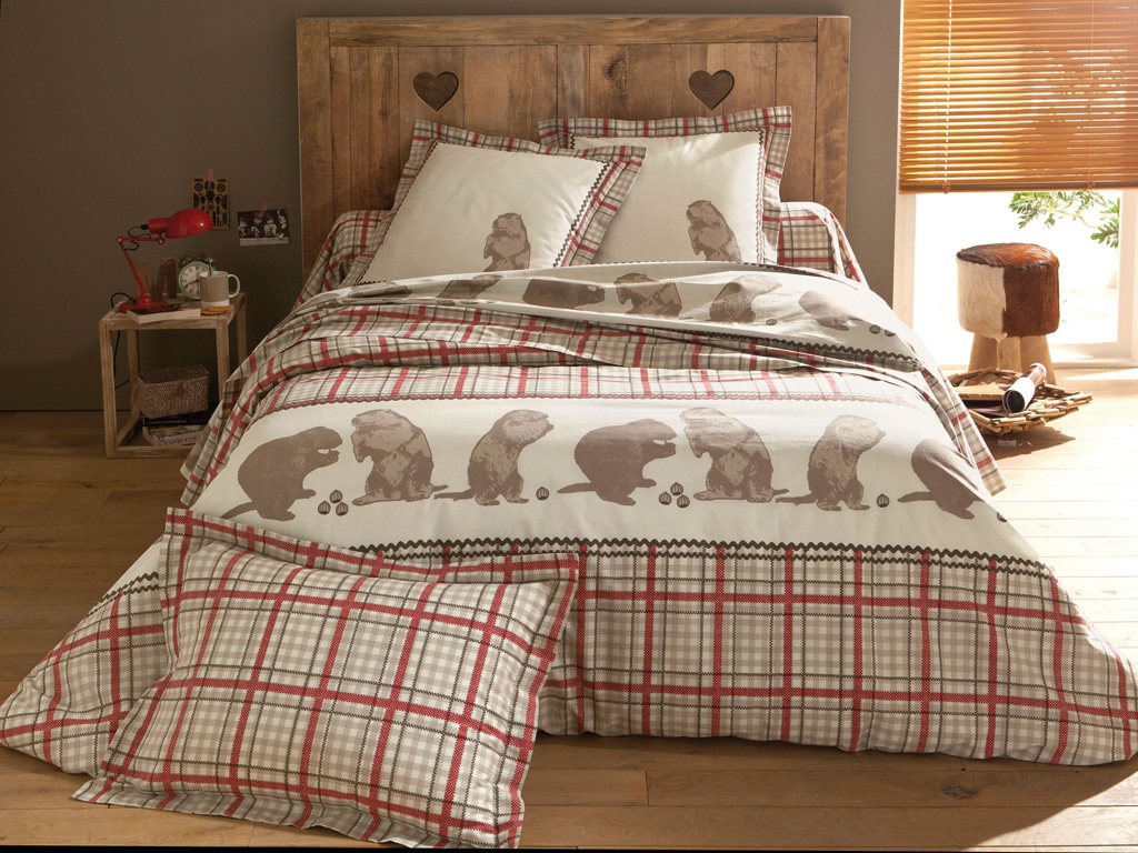 deco chambre esprit chalet 091558 la. Black Bedroom Furniture Sets. Home Design Ideas