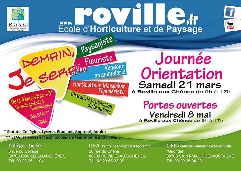 Cole d horticulture et de paysage de roville aux ch nes for Horticulture et paysage