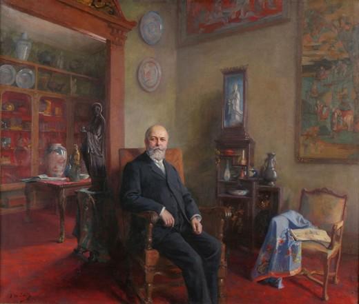 Portrait de Charles Cartier-Bresson, entre 1921 et 1936, Jean-Mathias Schiff (1870 – 1939), huile sur toile