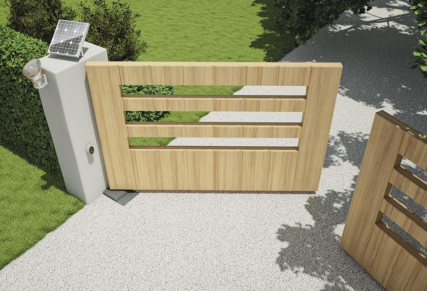 les portails s ouvrent au solaire lorraine magazine. Black Bedroom Furniture Sets. Home Design Ideas