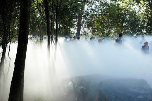 Fujiko Nakaya_Moss Garden Nicey-sur-Aire, coprod. Le Vent des Forêts-Frac Lorraine 2011_crédit Sébastien Agnetti