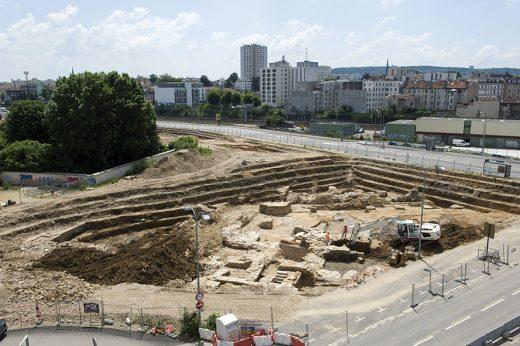 Vue sur la fouille d'archéologie préventive - Crédit photos  Annie Viannet Inrap